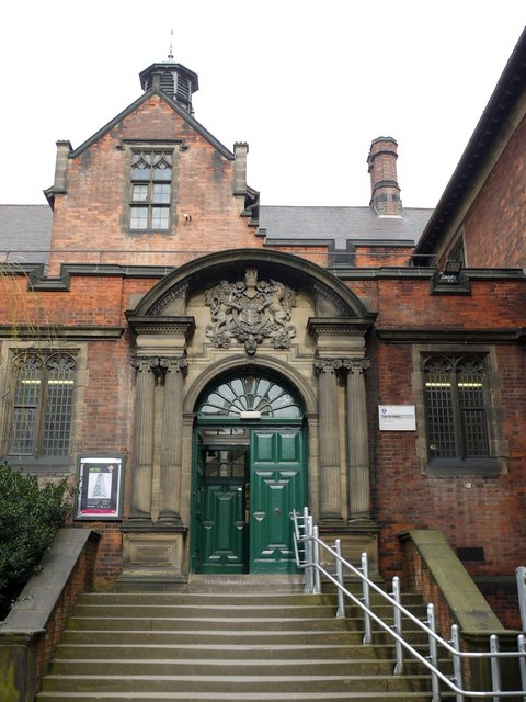 Entrance to the Fine Art Building from the Quadrangle