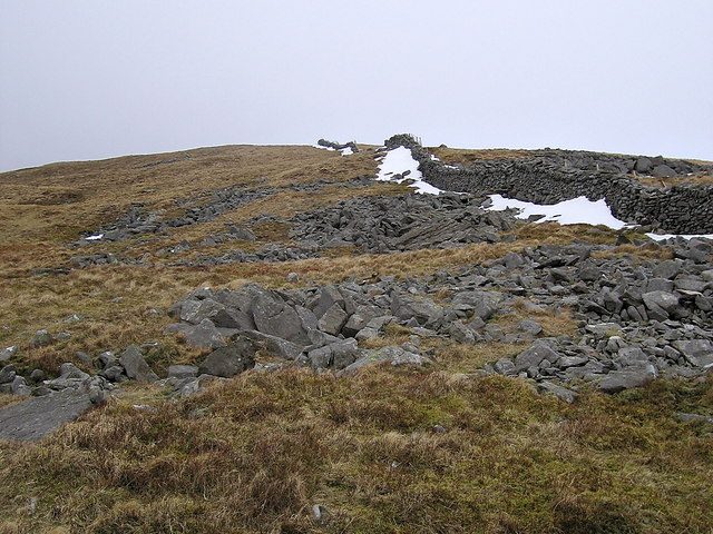 Southern slope of Diffwys summit