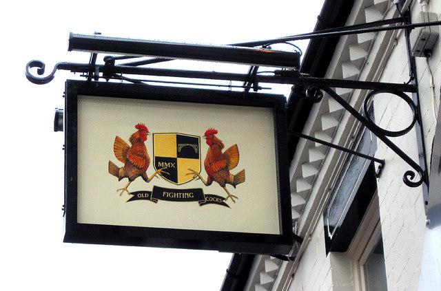 Old Fighting Cocks Inn Sign, Oakengates