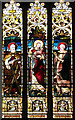 TL9991 : All Saints church in Snetterton - stained glass by Evelyn Simak