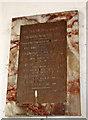 TL9991 : All Saints church in Snetterton - roll of honour by Evelyn Simak