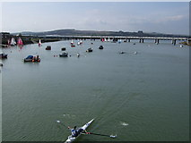 TQ2105 : River Adur from the Norfolk Bridge by Paul Gillett