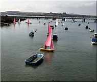 TQ2105 : Yacht on the River Adur by Paul Gillett