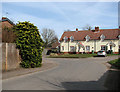 TL9992 : Terraced cottages by the junction of Sallow Lane and Chalk Lane by Evelyn Simak
