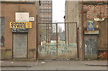 NS5564 : Neglected industrial buildings on Fairley Street, Govan by Steven Brown