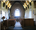 TM1581 : The church of St Andrew in Thelveton - view west by Evelyn Simak