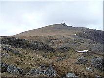 SH6358 : The footpath up to Y Garn from near Llyn y Cŵn by Jeremy Bolwell