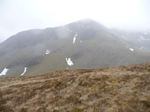 Snowy remnants in Cwm Cywion