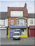 SE2534 : Stanningley Wines - Stanningley Road by Betty Longbottom