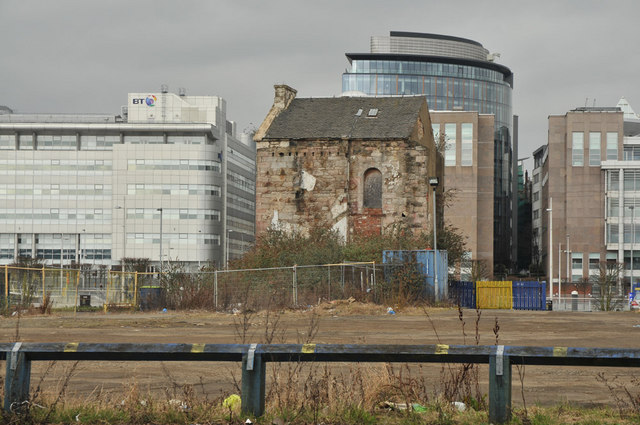 Brownfield site near the Clyde