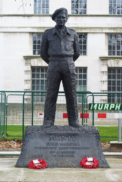 "Statue of ""Monty"", Whitehall, London"
