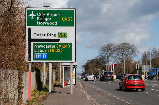 Direction sign, Belfast