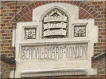 TQ3279 : Plaque on Harper Road School by Stephen Craven