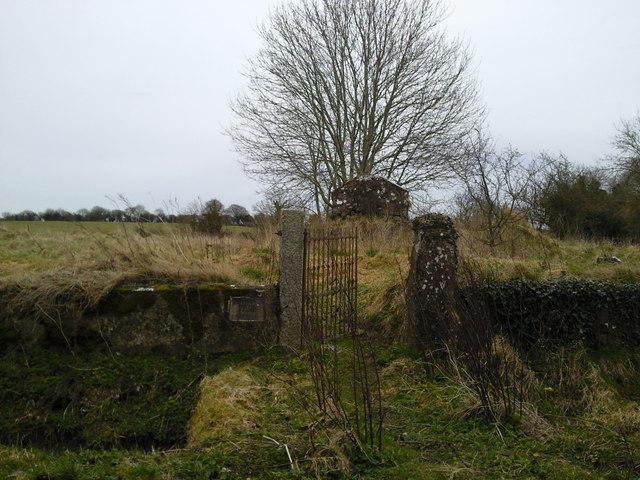 Rathregan Church in ruins, Co Meath