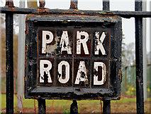 J3472 : Park Road sign, Belfast by Albert Bridge