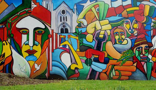 Mural, Ormeau Park, Belfast
