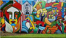 J3472 : Mural, Ormeau Park, Belfast by Albert Bridge