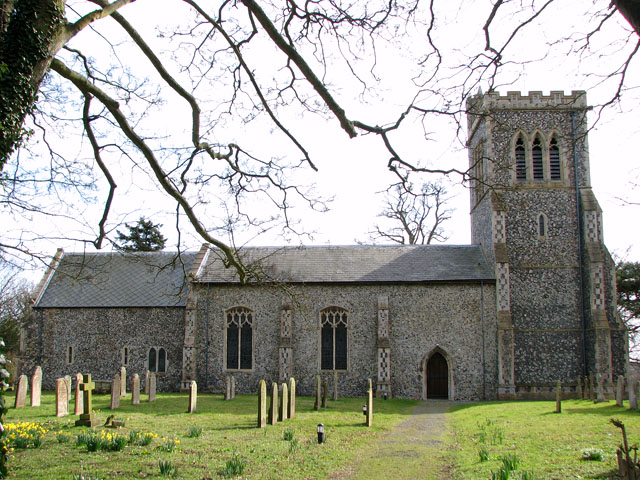 The church of SS Peter and Paul in Brockdish