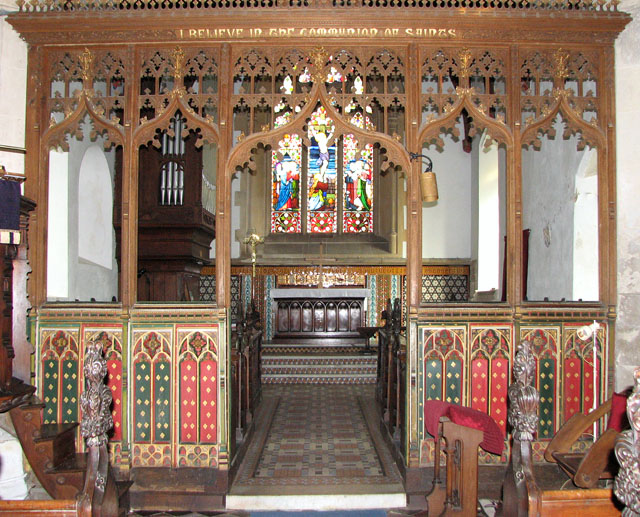 The church of SS Peter and Paul in Brockdish - rood screen (restored)