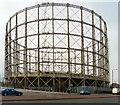 SJ8699 : Manchester Gasometer by Gerald England