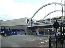 TQ3382 : London Overground at Shoreditch High Street by Stacey Harris