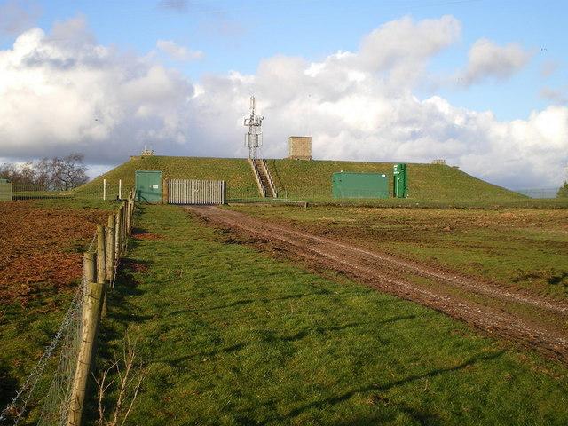 Cellarhead reservoir and phone mast
