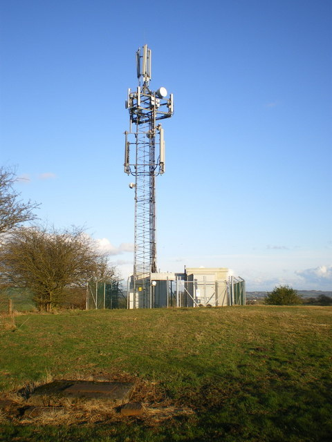 The phone mast above Cellarhead