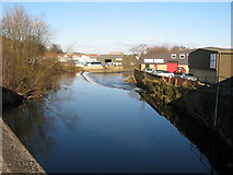 SE1537 : River Aire at Shipley by Stephen Armstrong