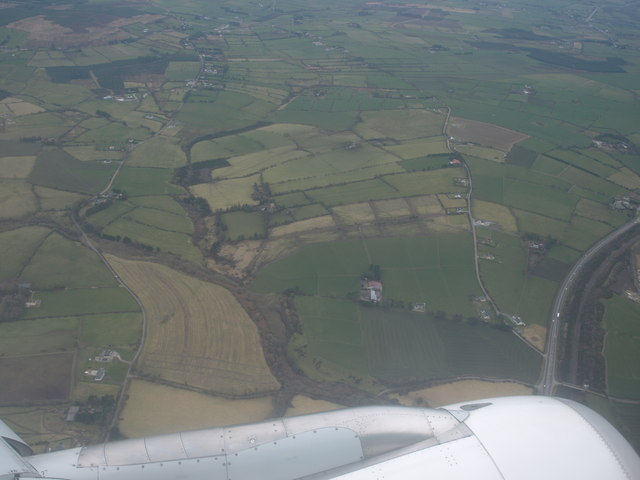 Ballyhilloge and the N20 from the air