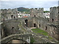 SH7877 : Conwy Castle: outer bailey by N Chadwick