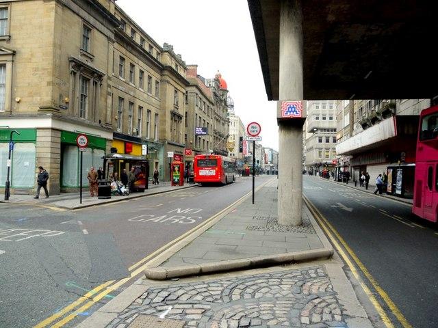 Pilgrim Street, view north