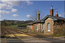 TQ2151 : Railway at Rectory Lane level crossing by Ian Capper