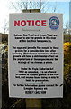 C1202 : Notice, Deele River by Kenneth  Allen