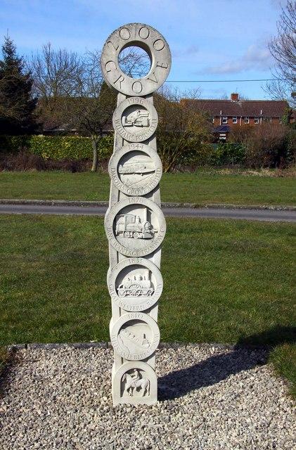 Grove Millennium Stone on The Green