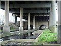SP1490 : River Tame and M6 motorway, Castle Bromwich by Michael Westley