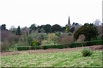 TQ3632 : View towards West Hoathly  church and graveyard by Robin Webster