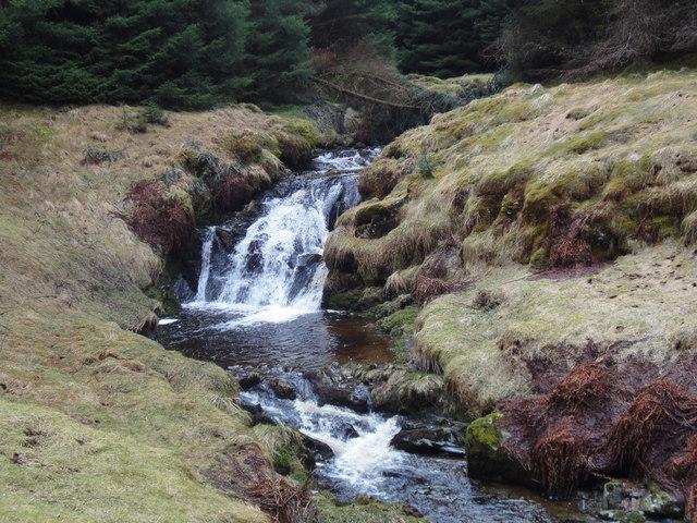 Waterfall on upper Shinnel Water