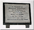 TM1383 : The church of St Mary in Burston - C20 memorial by Evelyn Simak