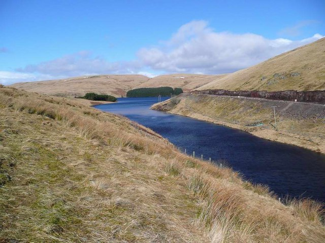 Southern limb of the Upper Glendevon Reservoir