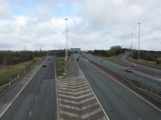 M73 South of the Baillieston Interchange