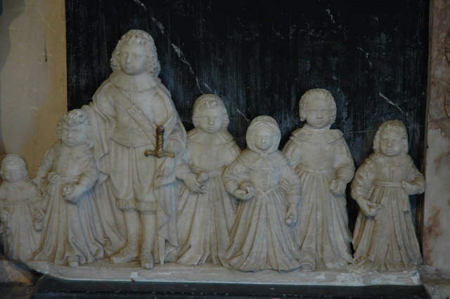 Detail from Chichester monument, Eggesford Church