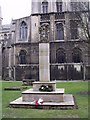 TL1998 : War Memorial, Peterborough Cathedral Close by Paul Shreeve