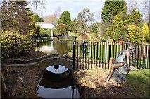 SJ6651 : Ornamental bridge in Stapeley Water Gardens by Steve Daniels