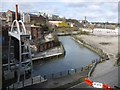 NZ2664 : Ouseburn above the Barrage by Andrew Curtis