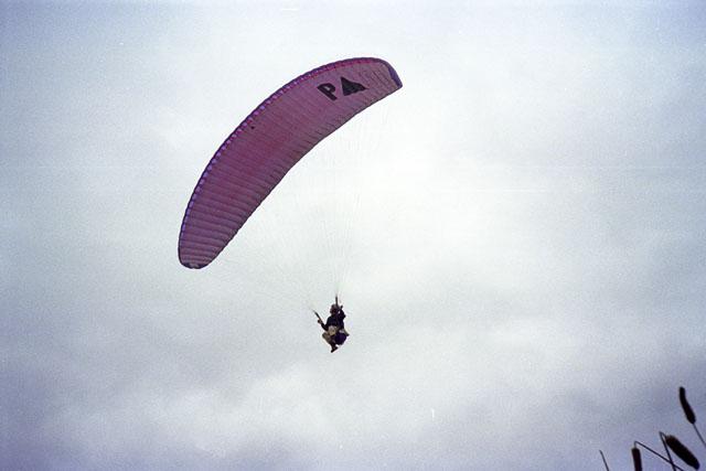 Hang-glider near Black Cliffs, Hayle