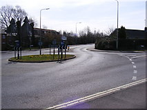 TM3877 : Roundabout & the A144 Saxons Way, Halesworth by Adrian Cable