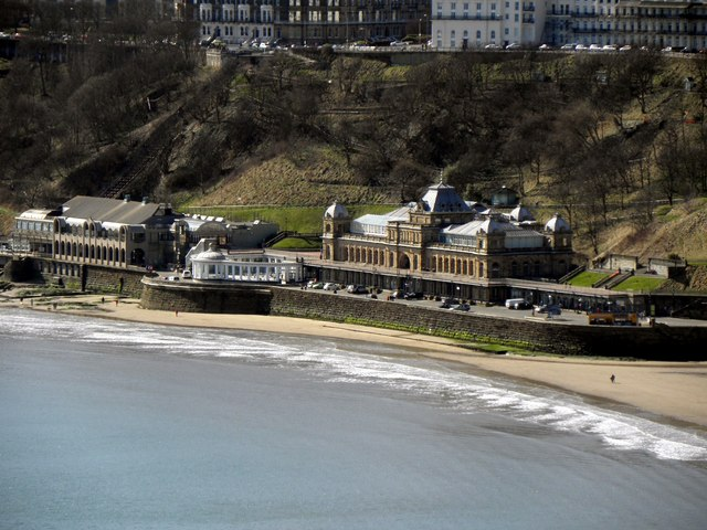 Scarborough Spa Complex from Castle Viewing Platform