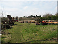 SP5709 : Farm machinery at Rectory Farm (1) by Stephen Craven