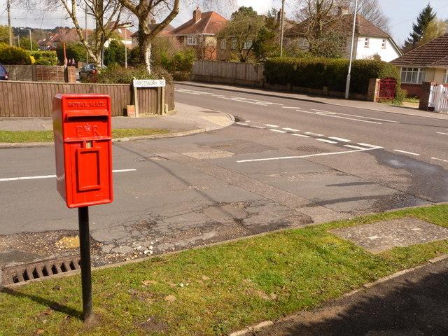 Broadstone: postbox № BH18 101, Abbotsbury Road