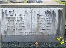 SH4862 : The marker on the communal grave of the twelve recovered bodies from the 1952 Aer Lingus accident by Eric Jones